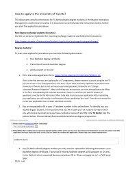 How to apply to the University of Twente? - TU Berlin