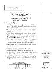 egzamin maturalny z matematyki poziom podstawowy - Zadania.info