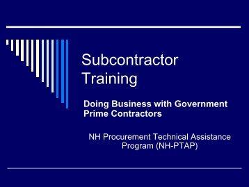 [Subcontractor Training.pdf]...