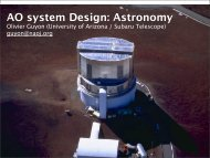 AO system Design: Astronomy - Center for Adaptive Optics