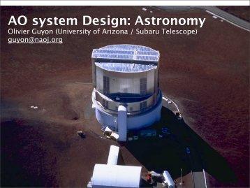 AO system Design: Astronomy - Center for Adaptive Optics