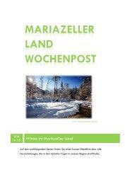 Mariazeller Land Wochenpost KW9-10 - Mariazellerland Blog