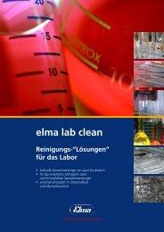 """elma lab clean Reinigungs-""""Lösungen"""" - Elma GmbH & Co. KG"""
