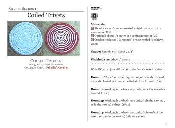 Coiled Trivets - Priscilla's Crochet