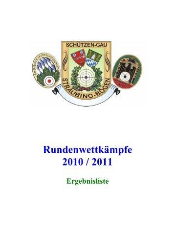 RWK - Saison 2010 / 2011 Aufstiegskampf der A-Gruppen