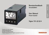 Benutzerhandbuch User Manual Signo 721.2/.3/.4 - Hengstler GmbH