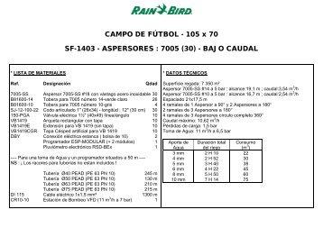 ASPERSORES : 7005 (30) - Rain Bird Ibérica
