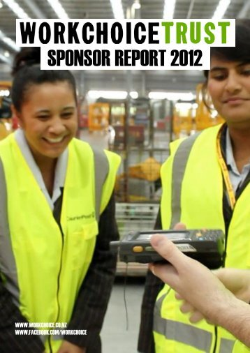 SPONSOR REPORT 2012 - Workchoice Trust