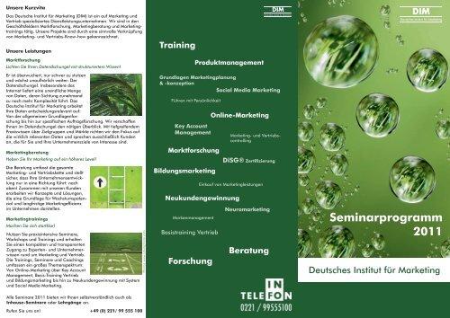 Seminarprogramm 2011 - Deutsches Institut für Marketing