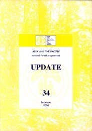 Asia and the Pacific national forestry programmes.Update No.34