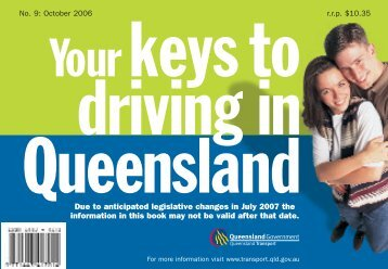 Your keys to Driving in Queensland - Queensland Government