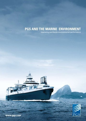 PGS AND THE MARINE ENVIRONMENT