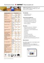 Technische fiche Thermosafe-wd - Boomer BVBA