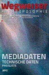 Mediadaten Magazin Wegweiser (3,4 MB) - Kulturverlag Polzer GmbH