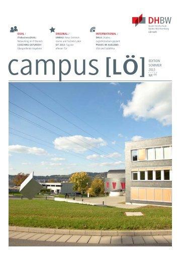 Nr. 3, Edition Sommer 2013 - DHBW Lörrach