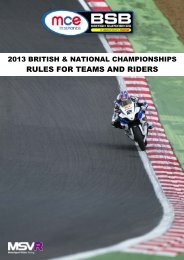 2013 Rules for Teams and Riders