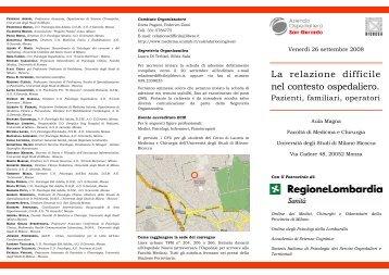 Brochure - Medicina e Chirurgia - Università degli Studi di Milano ...