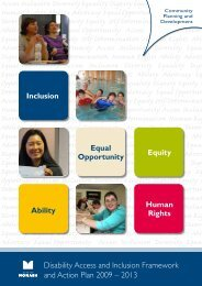 Disability Access and Inclusion Framework and ... - City of Monash