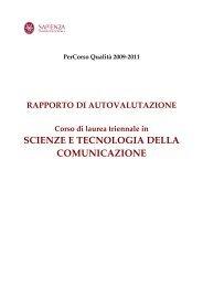 Scienze e Tecnologie della Comunicazione - Dipartimento di ...