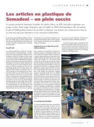 Les articles en plastique de Semadeni – un plein ... - Semadeni AG