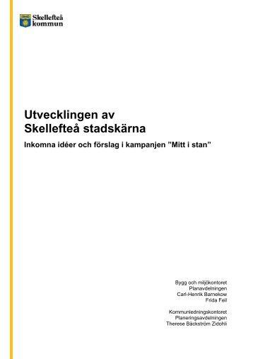 Sammanställning av alla inkomna ideér och förslag (pdf, nytt fönster)