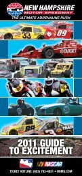 2011 GUIDE TO EXCITEMENT - New Hampshire Motor Speedway