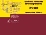 Presentazione di PowerPoint - Dipartimento di Comunicazione e ...