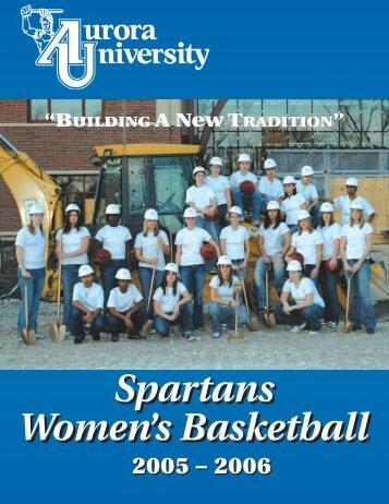 Spartans Women's Basketball Spartans - Aurora University