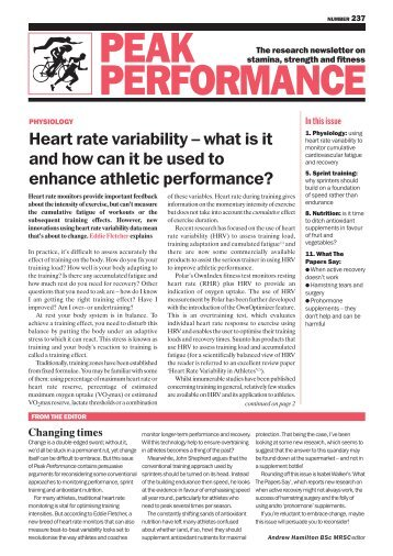 PEAK PERFORMANCE - Concept2