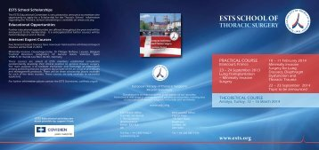 ests school of thoracic surgery