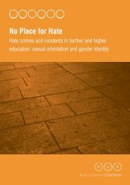 No Place for Hate Crime - National Union of Students