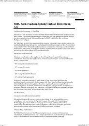 MBG Niedersachsen beteiligt sich an ... - Die Bornemann AG