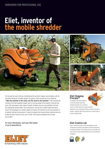 Eliet, Inventor Of The Mobile Shredder