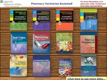 Pharmacy Technician Bookshelf - Lippincott Williams & Wilkins