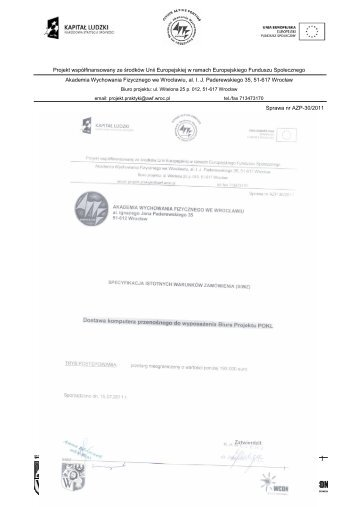 Kopia siwz 30 2011 - Akademia Wychowania Fizycznego we ...