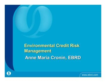 Introduction to environmental credit risk management