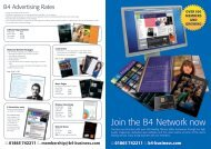 B4 Rates Card A4 Front NEW - B4 Magazine