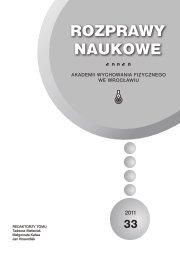 Rozprawy Naukowe 33 - Akademia Wychowania Fizycznego we ...