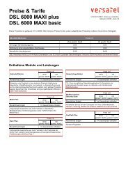 Preise & Tarife DSL 6000 MAXI plus DSL 6000 MAXI basic - BORnet