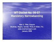 Mandatory Narrowbanding APCO - Shulman, Rogers, Gandal ...