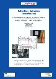 Zukunft der Schweizer Textilindustrie ? - ETH Zurich - Natural and ...