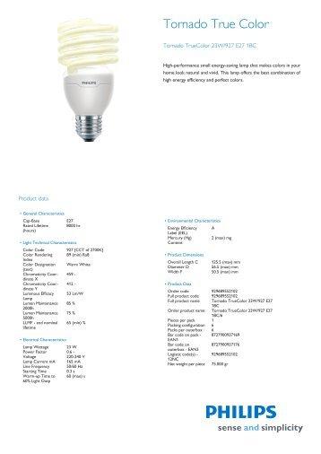 Product Leaflet 15w E27 Casa Delle Lampadine