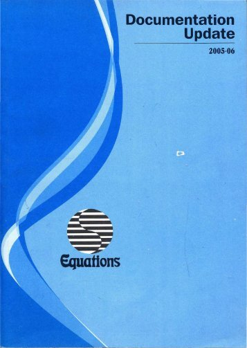 Documentation Update: April 2005 to March 2006 - Equitable ...