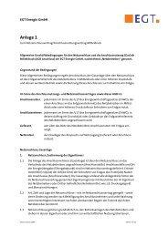 Anlage 1 - AGBs Anschlussnutzungsvertrag - EGT Energie