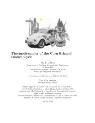 Thermodynamics of the Corn-Ethanol Biofuel Cycle - Tadeusz (Tad ...