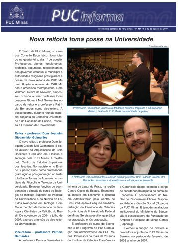Nova reitoria toma posse na Universidade - PUC Minas