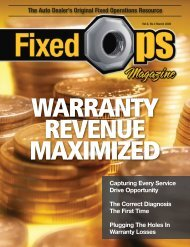 March 09: Warranty Revenue Maximized - Fixed Ops