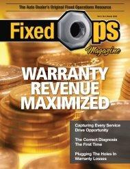 March 09: Warranty Revenue Maximized - Fixed Ops