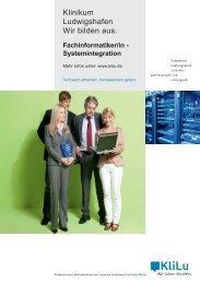 Fachinformatiker - Klinikum der Stadt Ludwigshafen