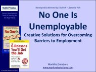 Creative Solutions for Overcoming Barriers to Employment